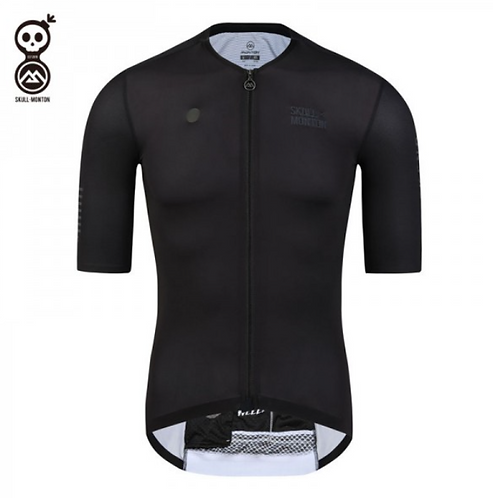 SKULL MONTON MENS CYCLING JERSEY WEEKEND BLACK