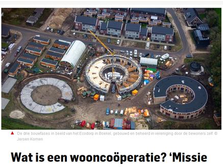 Mooi artikel in het AD over de potentie van de wooncoöperatie