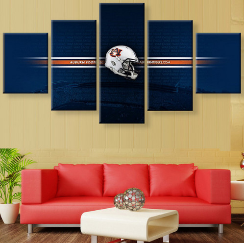 auburn tigers canvas prints painting wall art 5 pieces