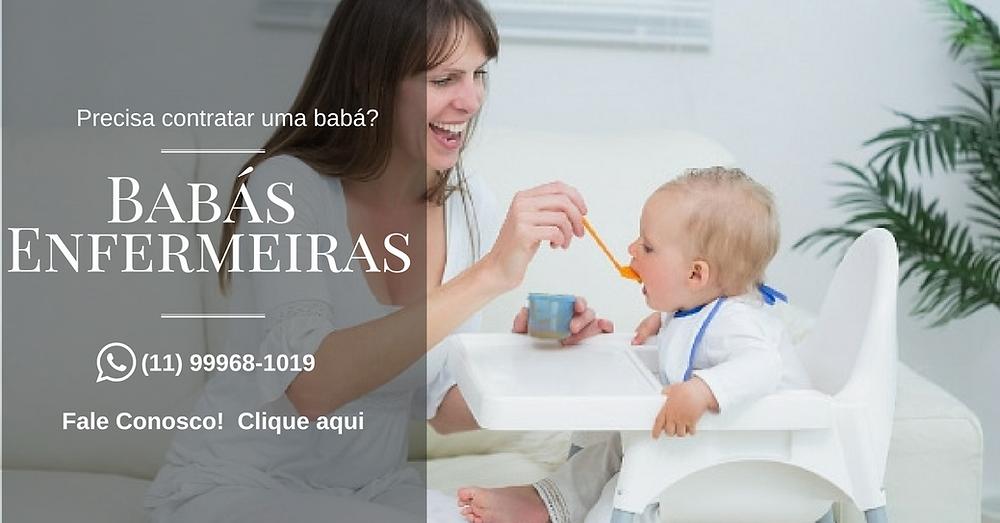 Precisa contratar uma babá de confiança com referências comprovadas para cuidar do seu filho?