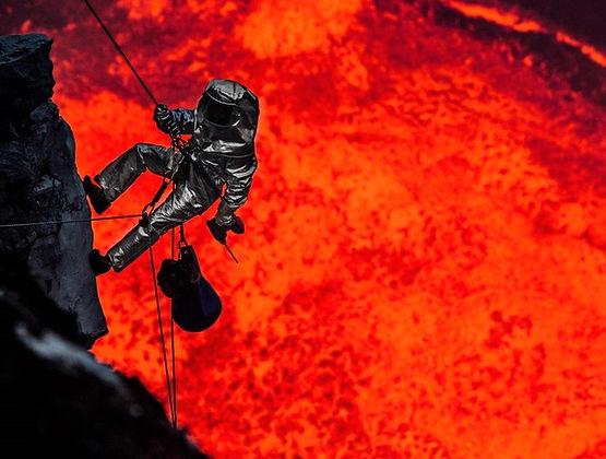 Proximity suit, Volcano