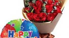 Red Roses FREE Balloon
