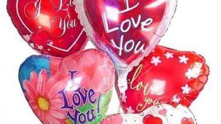 6 Heart Shaped Mylar Balloons