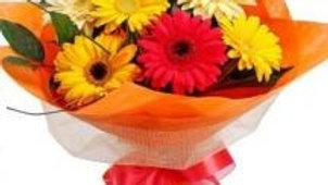 8 Mixed Gerberas Bouquet