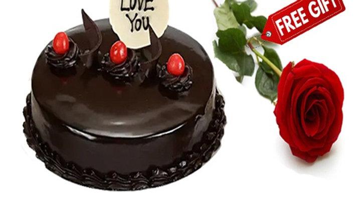 Chocolate Cake with FREE Rose