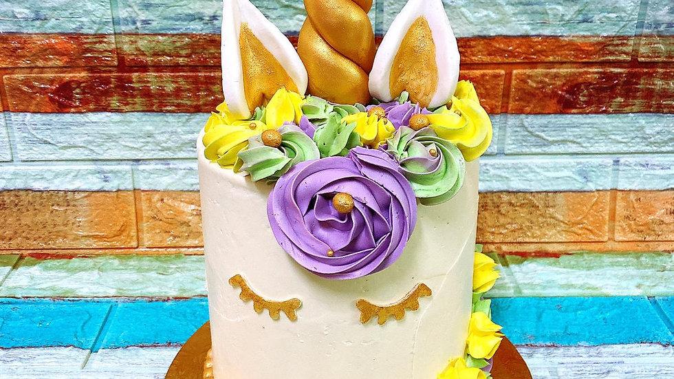 7 Inch  Unicorn Theme  Cake