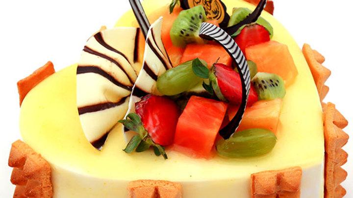 Fruit Fresca Heart Shape Cake