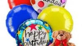 Mylar Balloons And Teddy Bear