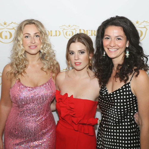 Paige Locke, Allie Dunbar and Angelica Stirpe at the 2019 Gold Derby Awards Season Kick-Off Party in Beverly Hills, CA