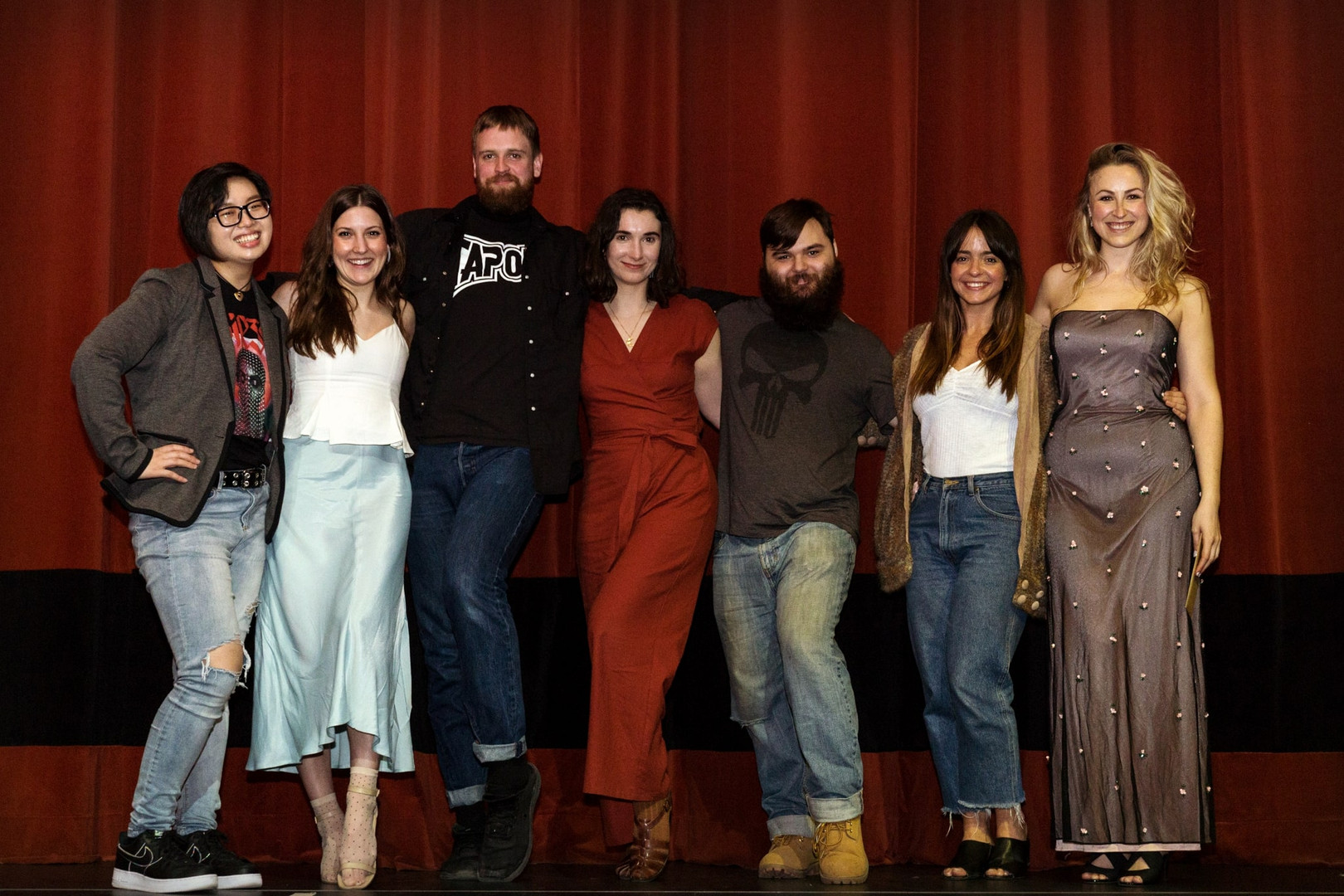 "Key members of the '8+ Weeks' team at ""'Misfit M.': An Evening of Shorts"" at The Royal in Toronto, ON"