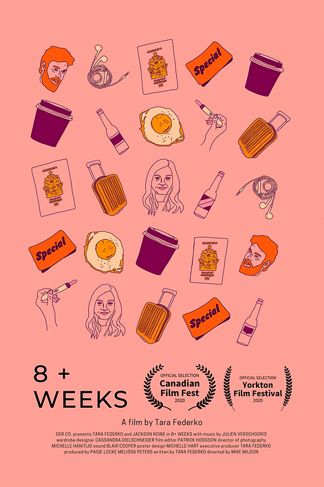 '8+ Weeks' Official Poster (pink version