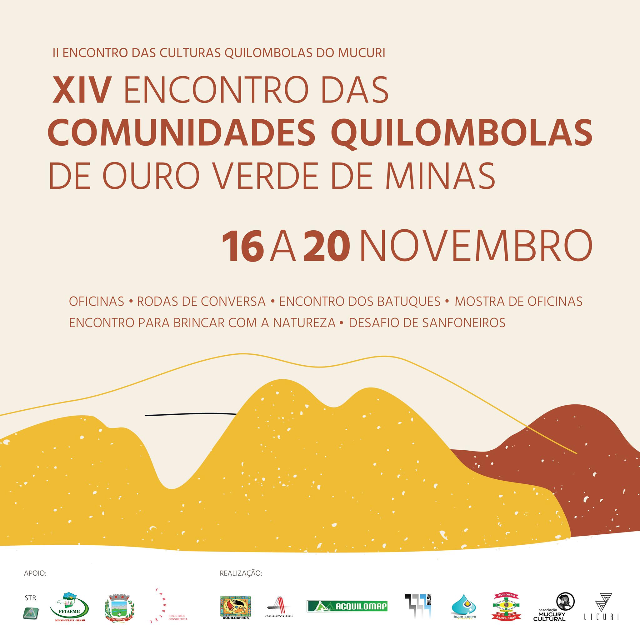 Apoio XIV Encontro das Comunidades Quilo