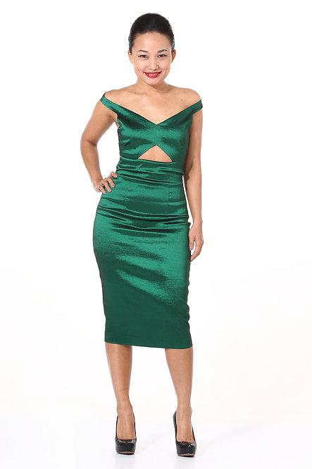 Emerald Green Cut Out Dress
