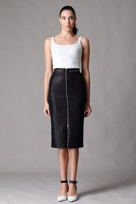 Biker Chic Skirt - Adjustable Front Zip
