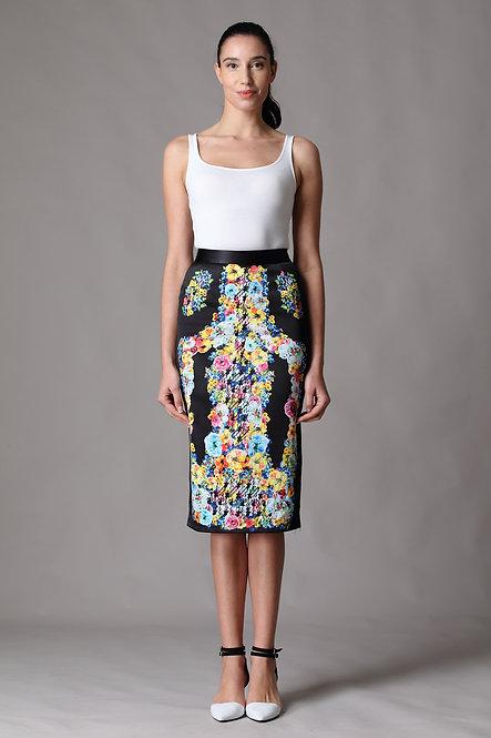 Digital Print Russian Floral Skirt