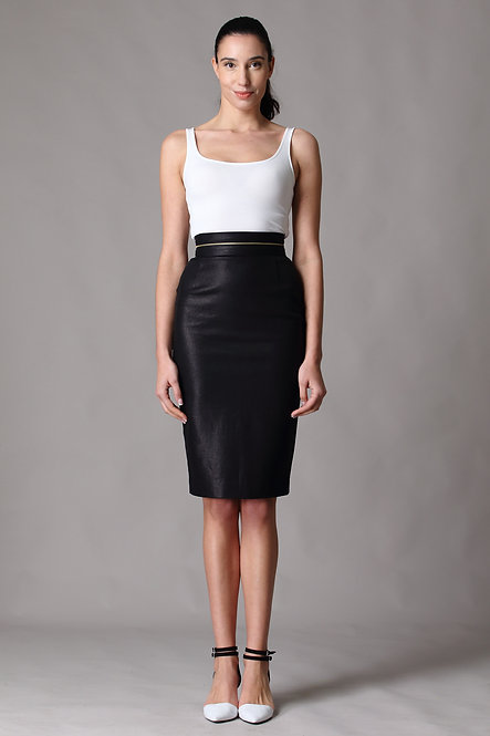 Biker Chic Skirt - Adjustable Back Zip Slit