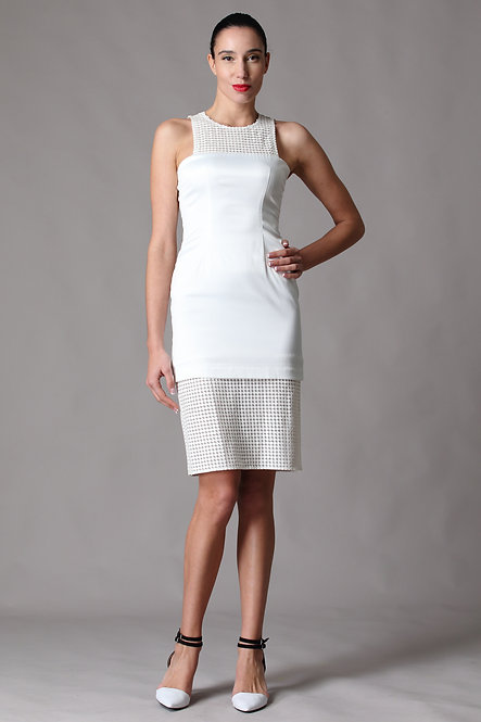 Astro PVC Laser Cut Leather Embroidery Dress