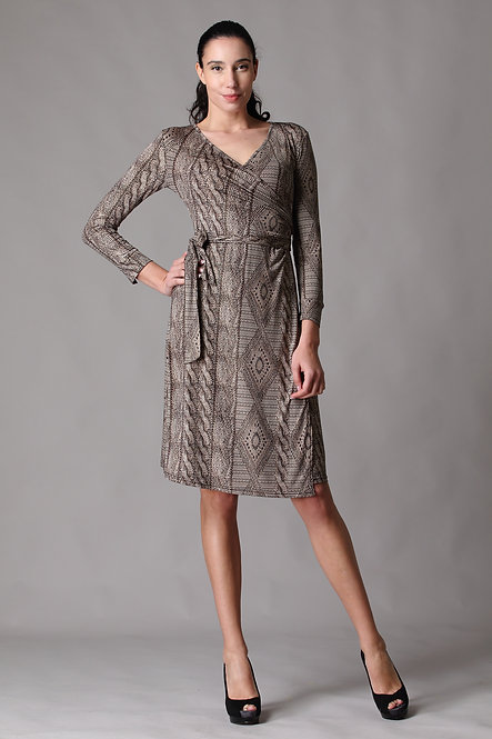 Veronica Long Sleeve Wrap Dress