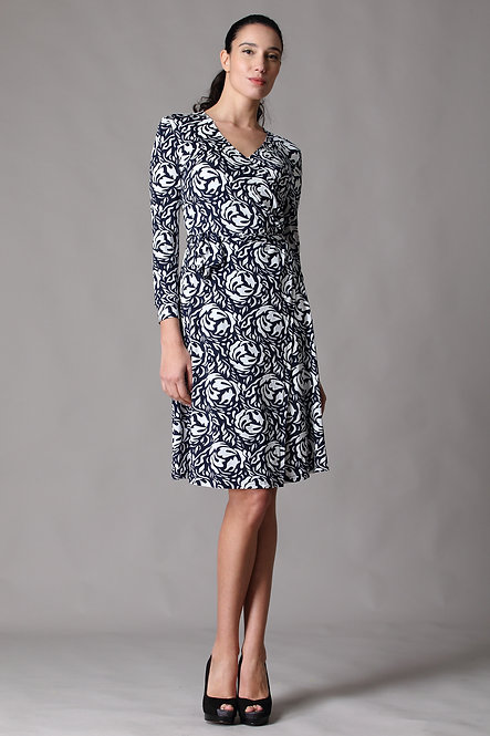 Gina Quarter Sleeve Wrap Dress