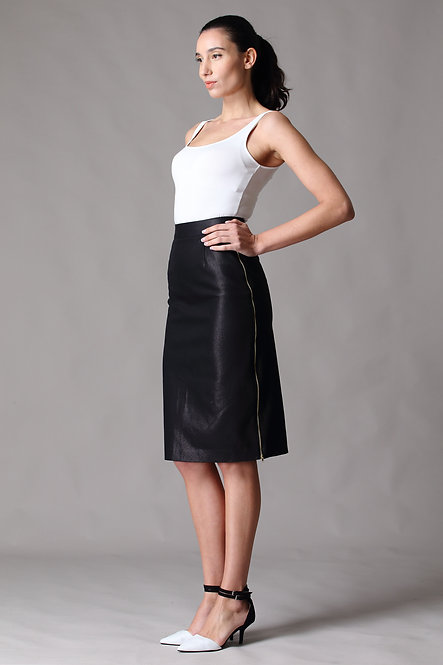 Biker Chic Skirt - Two Side Zips