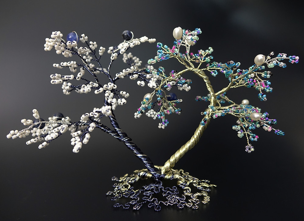 Inseparable - bead and wire tree of life sculpture