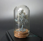 Miniature labradorite and wire tree sculpture