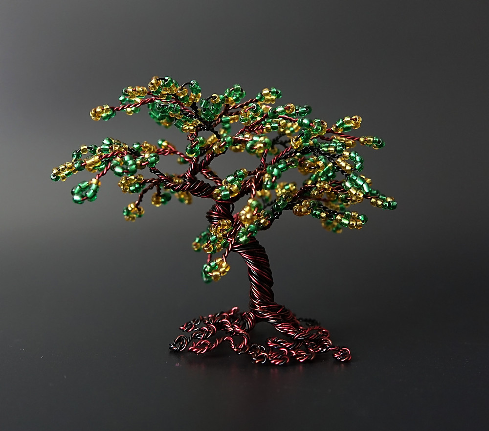 Tenacity - bead and wire tree of life sculpture