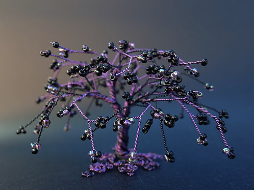 Eerie Tree - bead and wire tree sculpture