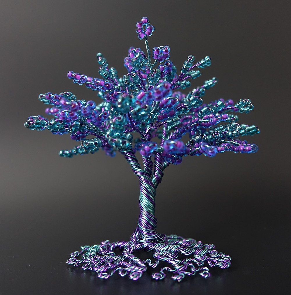 Entangled - bead and wire tree of life sculpture