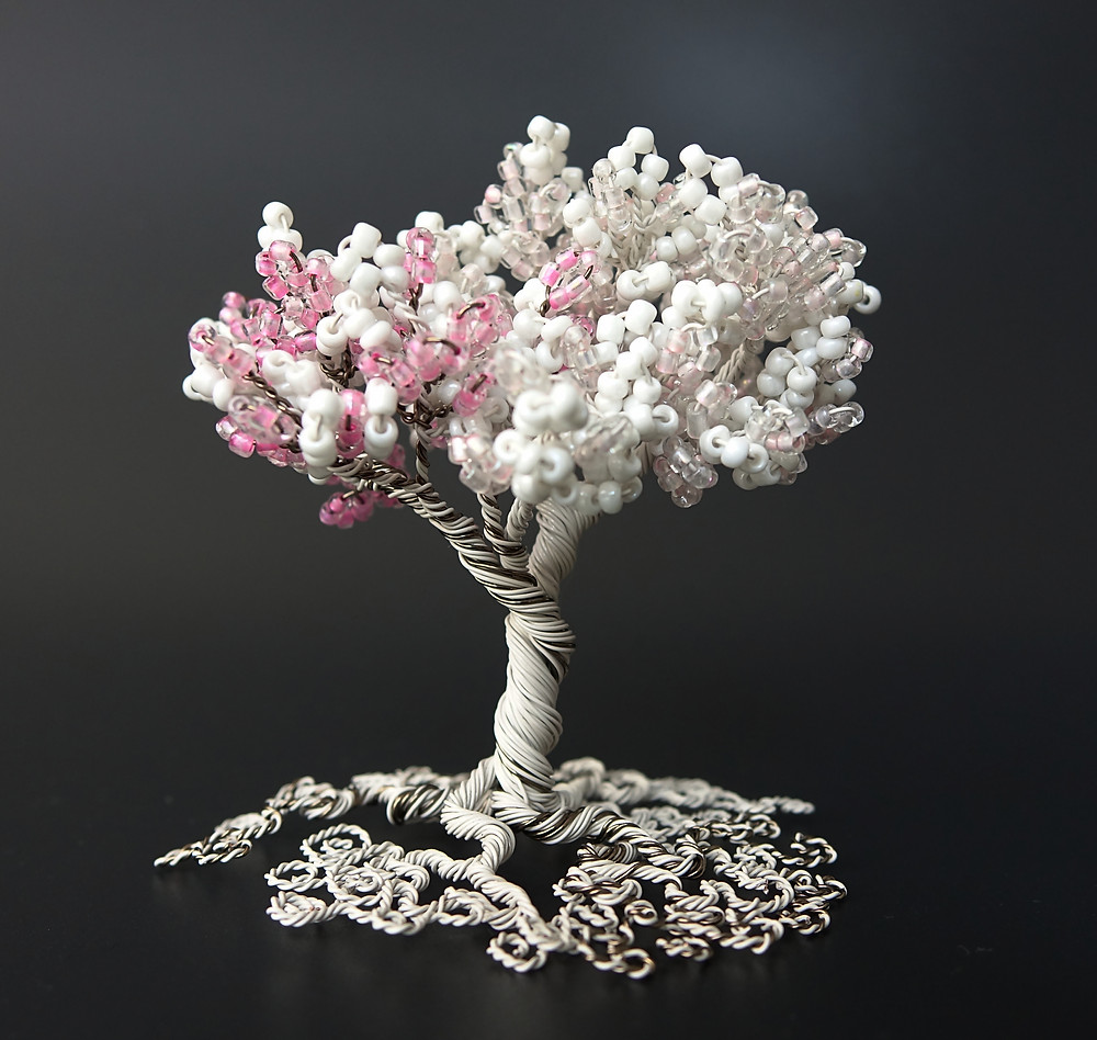 Marshmallow tree of life in pink and ivory