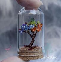 Rainbow miniature tree sculpture