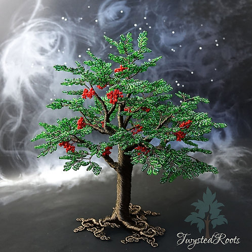 Bead and wire rowan tree sculpture by Twysted Roots