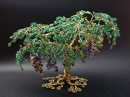 Majestic Medley - bead and wire tree sculpture