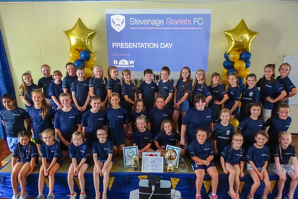 Stevenage Starlets FC Presentation Day 2018