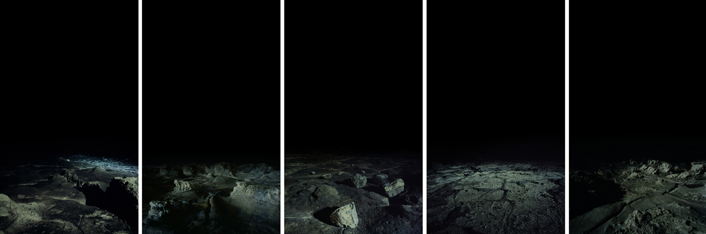 On the edge-1,3,4,5,7,C print,207x120cm,2010