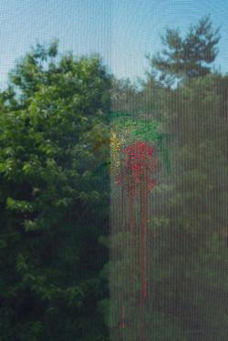 Fishhooks-10, mosquito net, 120x180cm, C print, 2015