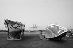 Fishhooks-9, Two ships, 120x180cm, C print, 2015