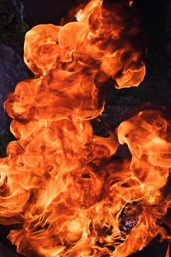Fishhooks-22, Flames, 120x180cm, C print, 2015