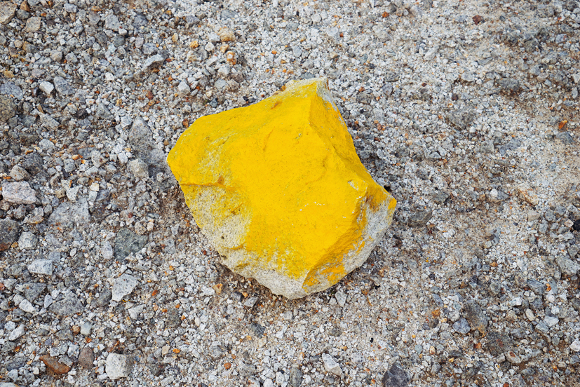 Fishhooks-11, Yellow stone 75x100cm, C print, 2014