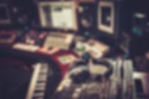 Close-up of boutique recording studio co