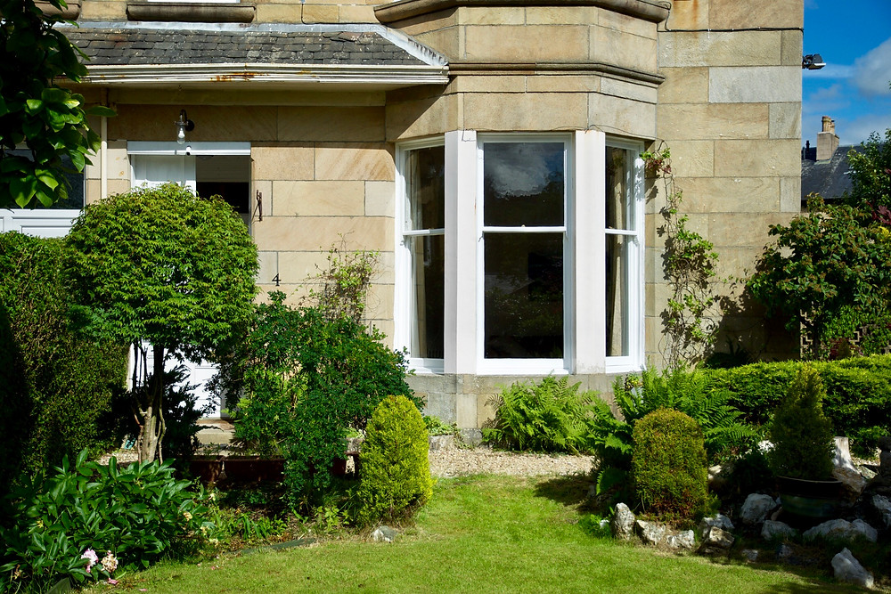 Beautiful traditional timber sash and case windows fully restored by MWM Matt Window Mate, Glasgow