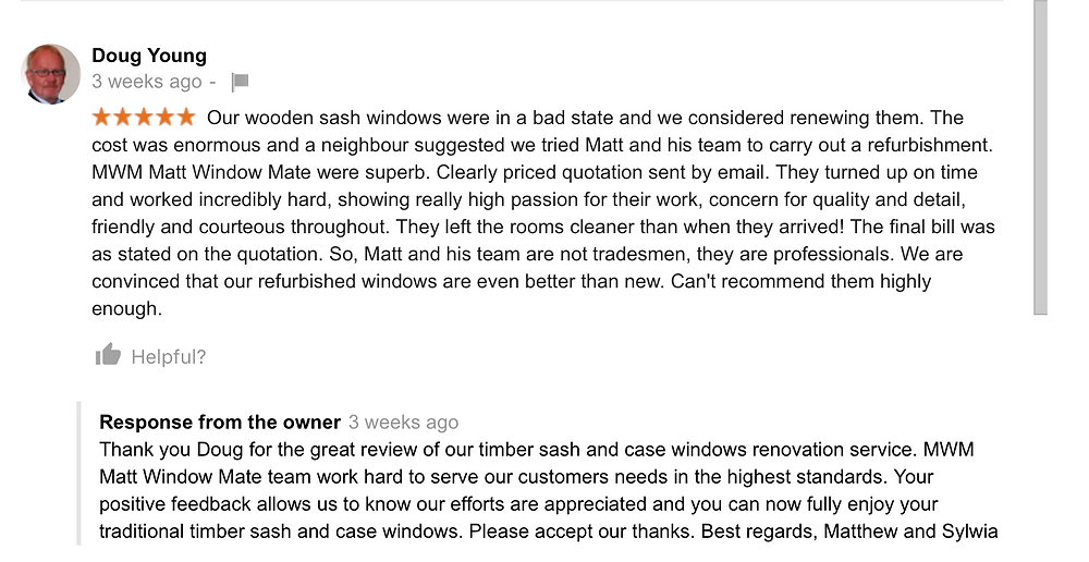 Happy clients' 5 start review on Google+ for MWM