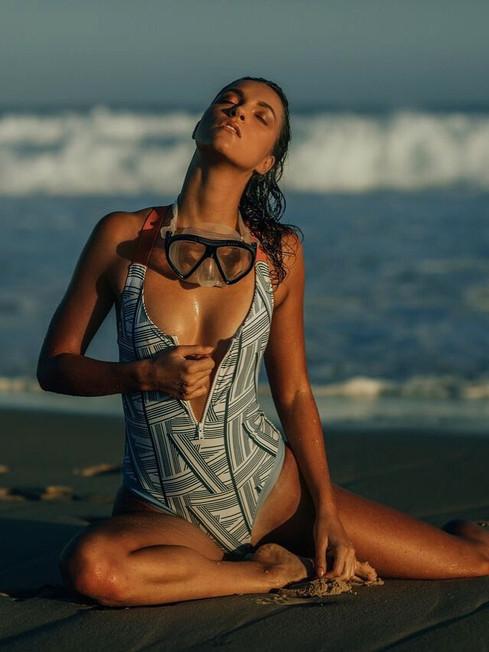 Model: Eden Playford Makeup: Gabrielle Williams Photo: Jaden Cavanagh Swimwear: Arcadia Movement