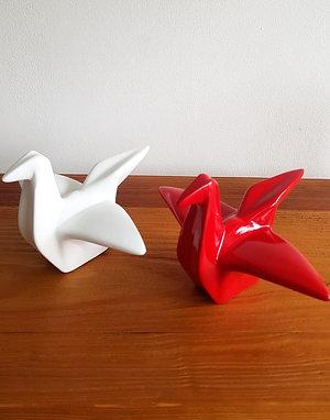 Origami Tsuru Cerámica
