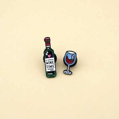 Broche pin Wine Time (2pzas)