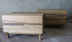 Solid Limba Wood Night Stands