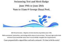 Swimming Test & Merit Badge
