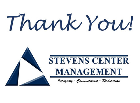 Thank You Stevens Center Management