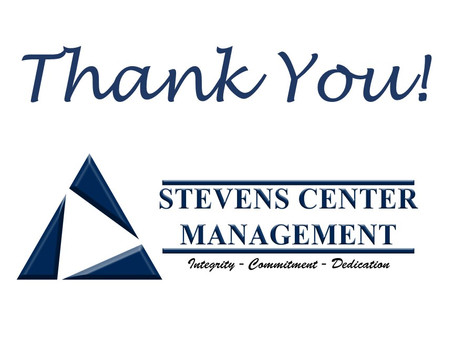 Thank You Stevens Center Management
