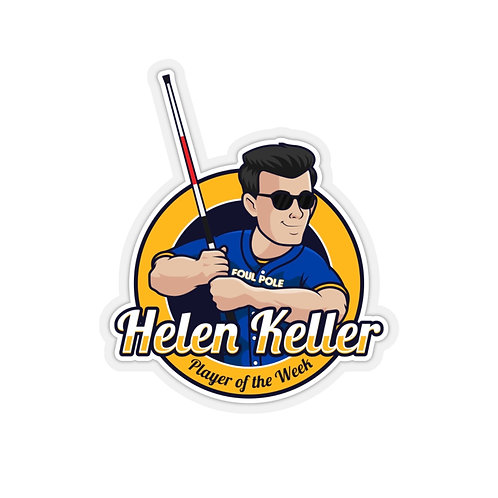 Helen Keller Award Sticker